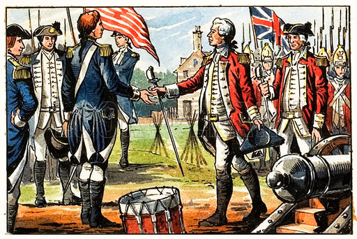 Image result for british surrender at yorktown american revolution
